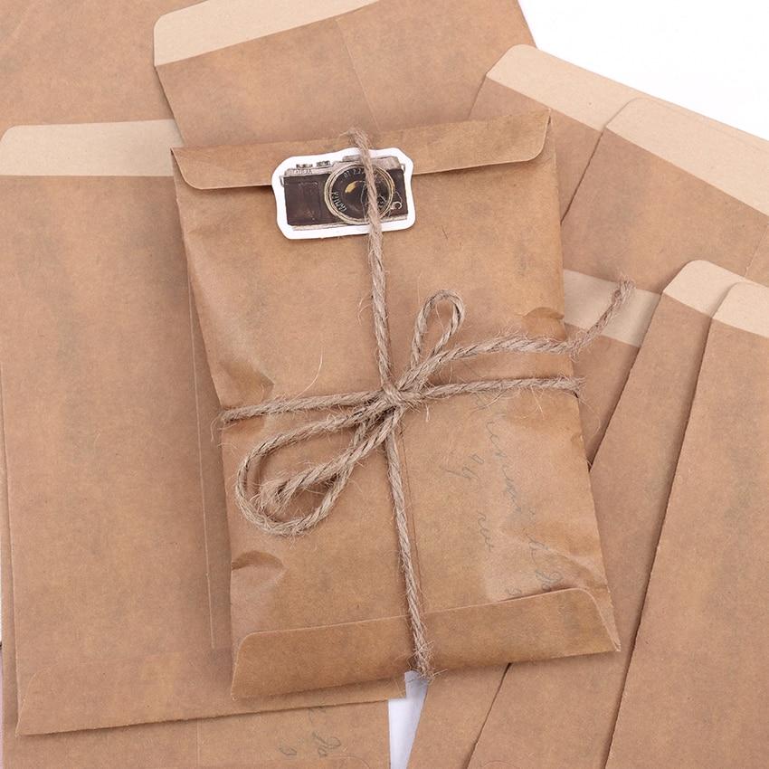 10PCS/Lot Vintage Envelope Creative Kraft Paper Envelopes DIY Decorative Envelope Paper School Office Supplies