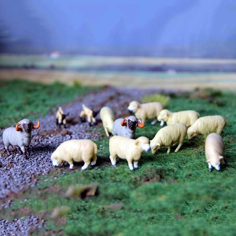 1/64 Scale ERTL Farm Series Model Scenes Accessories Twelve Sheep Set Home Desk Decorations Display