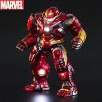 Disney Die Avengers Iron Man Glowing Anti-hulk Rüstung Modell Super Hero Action-figur Sammlung Modell Statue Spielzeug Für kinder
