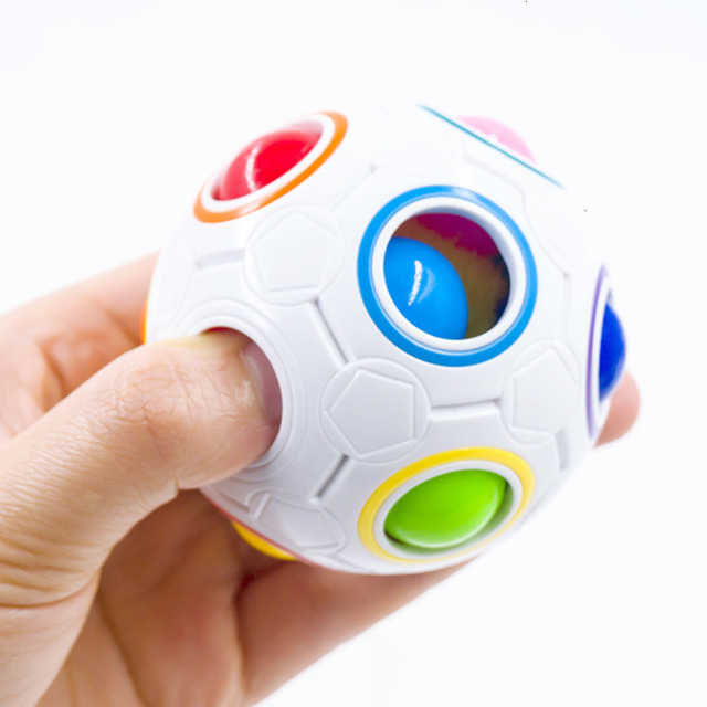 Creative Magic Spheric Cube Speed Rainbow Ball Puzzles Learning Educational Toys For Children Adults Office Anti Stress Puzzles 1