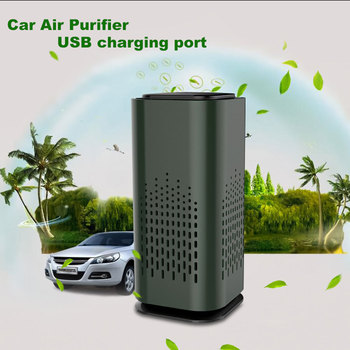 Portable Car Air Purifier Mine Negative Ion Generator Anion Air Filter for Home and Car air pruification image