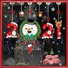 2021 Merry Christmas Stickers Santa Claus Deer Xmas Tree Snowflake Wall Window Stickers Ornaments Navidad New Year Decoration