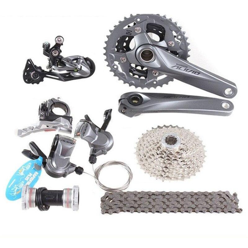 Nouveau VTT Alivio M4000 Groupe 3x9/27 Vitesse 7 pièces 170MM pour Shimano Vélo manettes de vitesse vélo Modification Accessoires