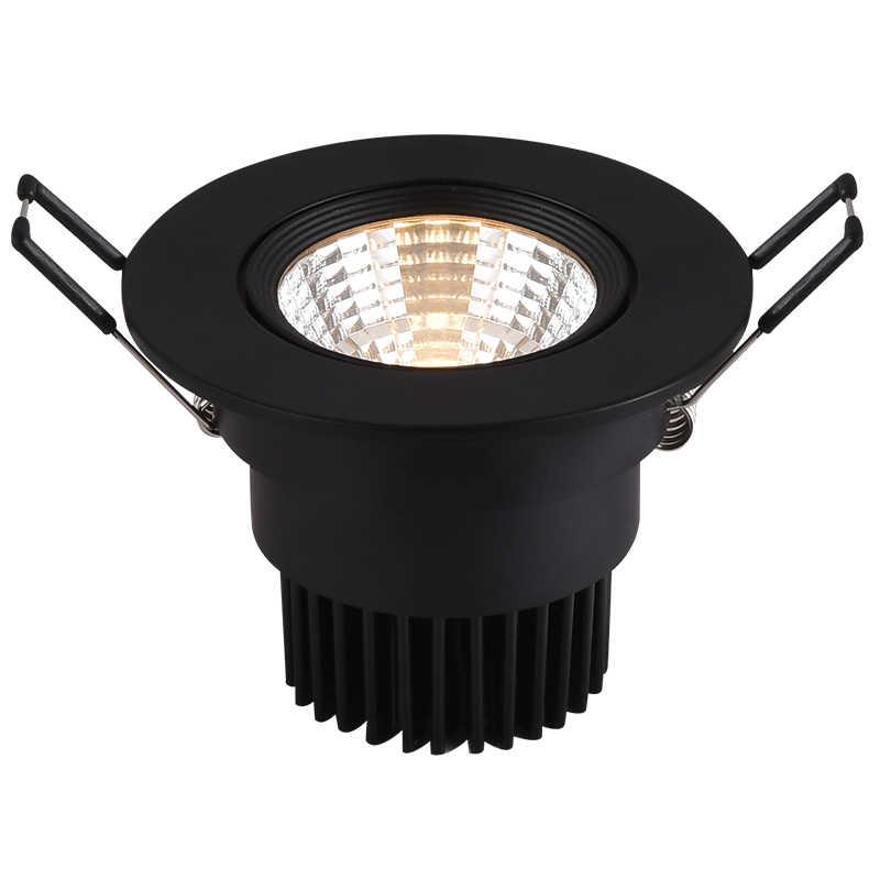 Bianco nero PANNOCCHIA HA CONDOTTO il proiettore lampada da soffitto AC85-265V 5W 7W 9W 10W 12W rotondo LED luce di pannello in alluminio da incasso Dimmable 110v 220V