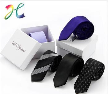 Spot wholesale small tie wholesale 5cm men and women Korean polyester silk narrow tie men can customize logo
