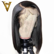 Lace Front Human Hair Wigs For Women Black Brazilian Remy Human Hair 13*6 Short