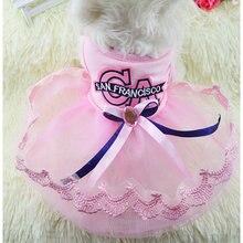 Одежда для собак платье маленьких милое принцессы весенне летнее