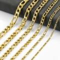 Ожерелья Figaro из нержавеющей стали золотого цвета для мужчин и женщин, цепочки, ювелирные изделия, необычные рождественские подарки
