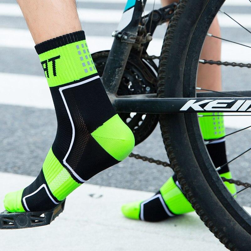 Meias de Bicicleta Esporte ao ar Compressão de Futebol Pares Lote Reflexivo Noite Correndo Basquete Livre Meias Mulheres Ciclismo 5 –