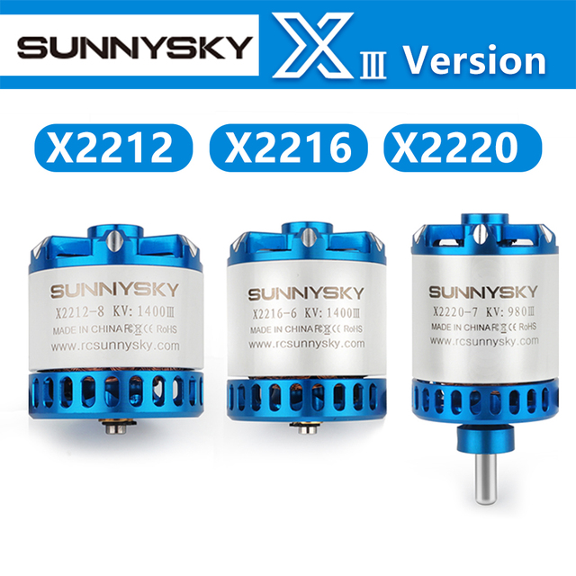 Sunnysky X2212 III X2216 III X2220 III 880/950/1100/1150/1250/1400/2200/2450/2600kv Brushless Motor RC FPV Racing Quadcopter
