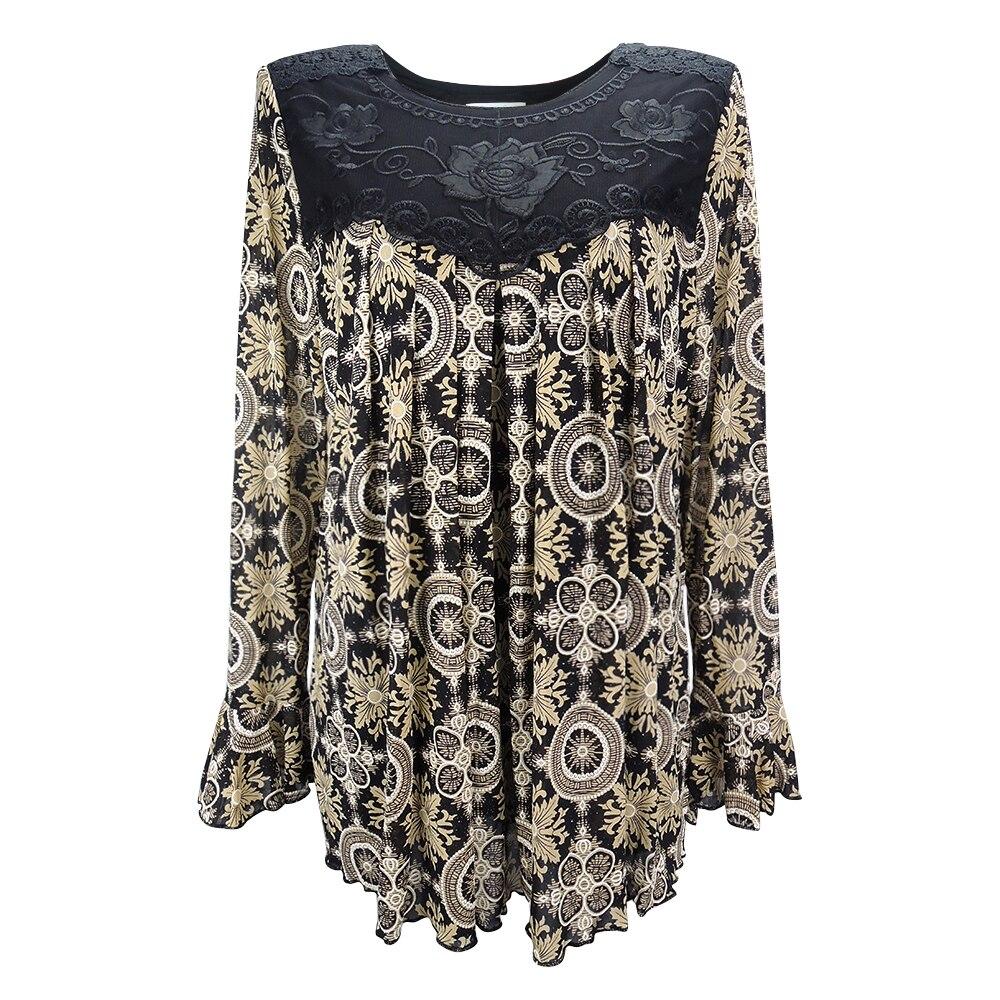 Image 3 - YTL Womens Plus Size Elegant Mature Floral Loose Tunic Top Shirt Sleeve Oversize Blouse Holiday Summer Shirt 6XL 7XL 8XL H036blouse shirtoversized blouseblouses plus -