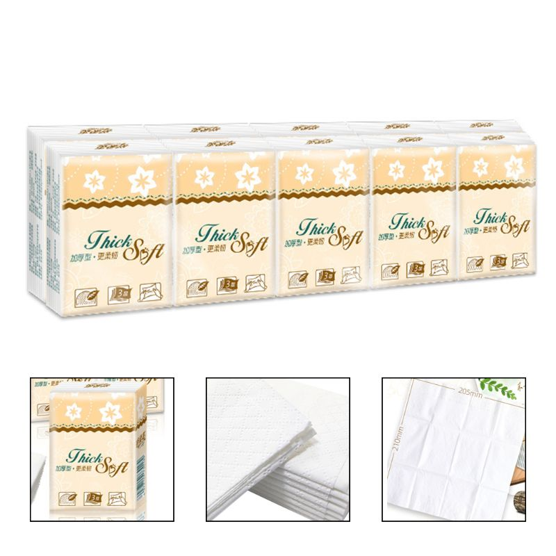 10pcs Disposable 3 Layers Toilet Tissue Paper Bathroom Bathroom Toilet Tissues