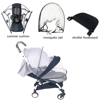 Baby Stroller Mosquito Insect Net Summer Mesh Pram Footrest Soft Summer Mesh Cushion For Babyzen Yoyo Baby Stroller Accessories baby stroller accessories soft breathable yarn baby basket stroller cover sunscreen cloth baby stroller mosquito net for baby