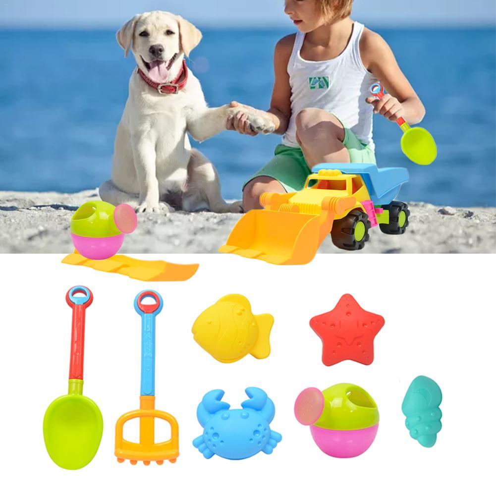 8pcs/Set Hot Summer Beach Sand Playes Toys Sand Water Toys Kids Seaside Beach Truck Shovel Rake Kit Playes Toy Children Car Toy