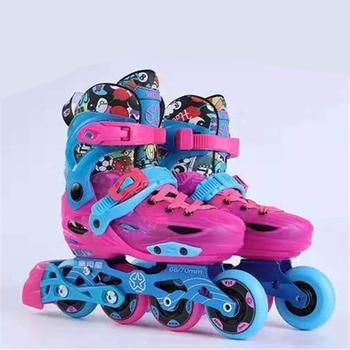 Premium Kids' 4 wheels Inline Skates patines Children Slalom Sports Sneaker Shoes Size Adjustable 68mm 70mm FSK Slalom PU wheel фото