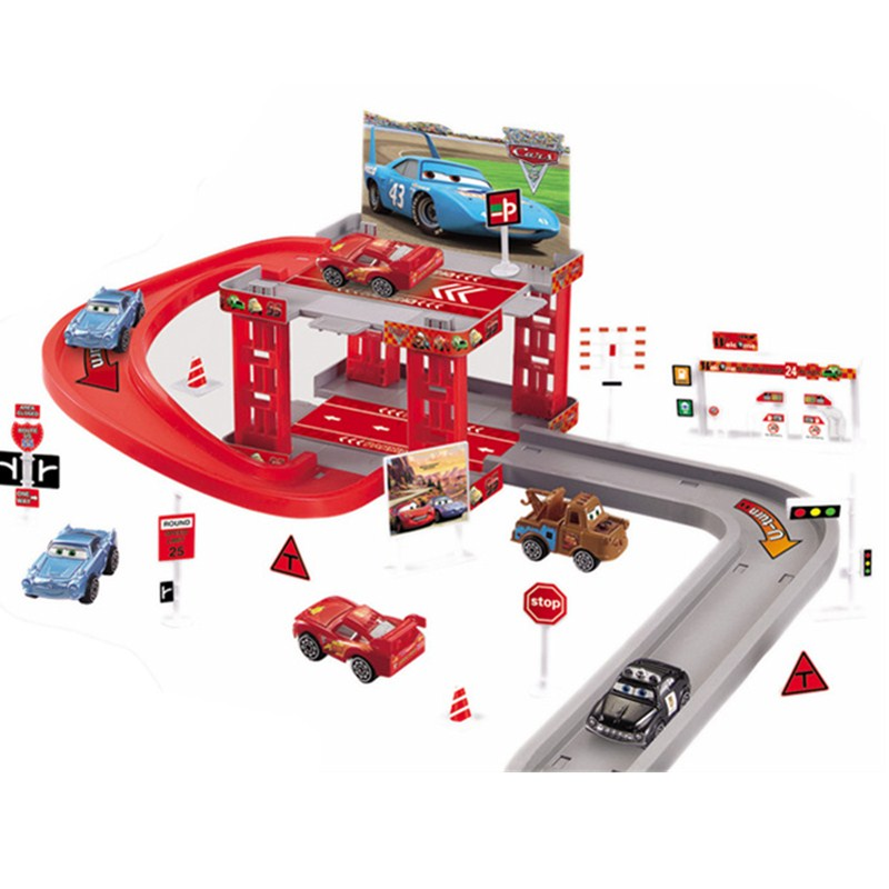 Disney Pixar Car 3 Track Parking Lightning McQueen Plastic Die Casting Toy Model Child  toys Birthday Christmas