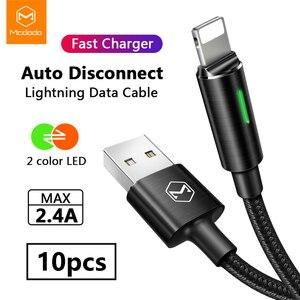 Image 1 - 10 pièces/lot Mcdodo USB chargeur câble pour iPhone XS XR Max 8 7 6 6s Plus 5s SE cordon charge rapide téléphone données câble déconnexion automatique