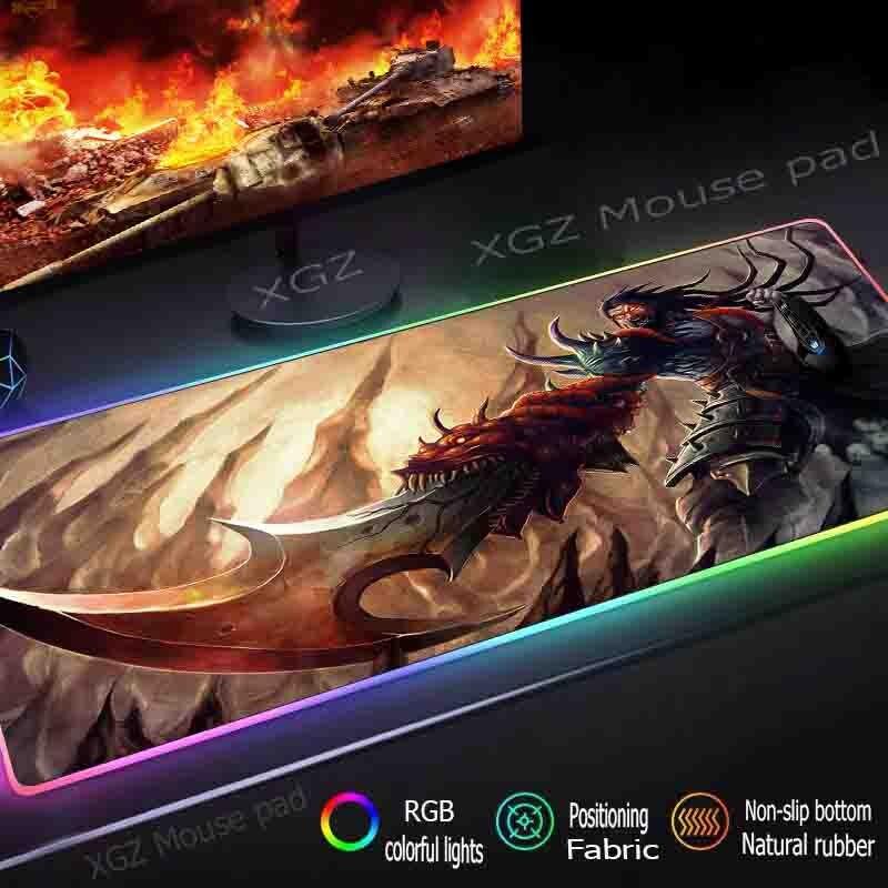 Купить большой коврик для мыши mairuige в стиле аниме демон воин rgb