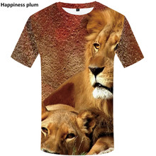 футболки мужские 3D Printed Animal lion tshirt 2019 Summer рубашка harajuku shirts Hip Hop Short Sleeve top tees лгбт мужские футболки недорого магазин