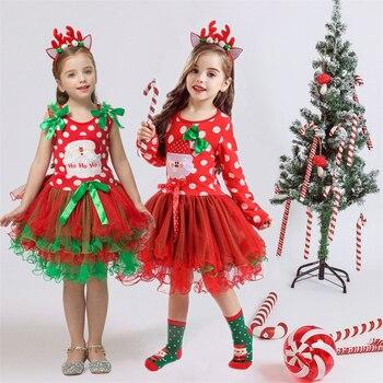 Robe de noël fantaisie pour petite fille, joli vêtement en tulle, idéal pour déguisement, en été ou pour les fêtes du nouvel an, habit de carnaval, avec serre tête en oreilles de souris 1