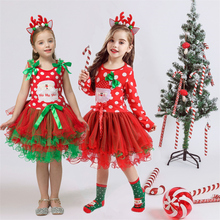 Fancy New Year Baby Girl Carnival Santa Dress For Girls Summer Mouse Christmas Children