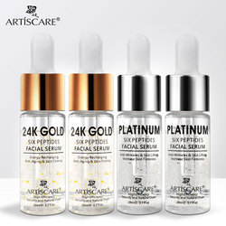 ARTISCARE Platinum + 24k Gold Six Peptides Serum for Face Anti-Aging Moisturizing Hyaluronic Acid Facial Essence Skin Care 4pcs