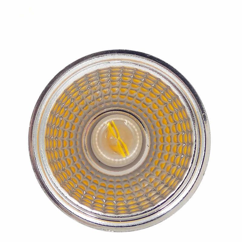 1pcs החדש led זרקור GU10 MR16 COB 5W 220V dimmable מנורת LED הנורה, תקרת אור Downlight מקור 。 סלון תאורה