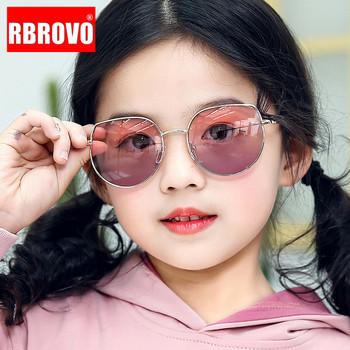 RBROVO okulary przeciwsłoneczne Cat Eye dzieci piękne okulary przeciwsłoneczne dla dzieci luksusowe markowe okulary dla dziewczynek chłopców małe Oculos De Sol Feminino tanie i dobre opinie CN (pochodzenie) Dziewczyny ROUND ALLOY Lustro Gradient Anti-odblaskowe UV400 50mm Akrylowe Sunglasses GD3002 55mm Round face Long face Square face Oval shape face