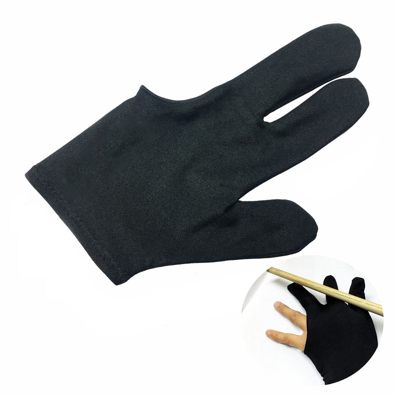 Three Finger Billiard Gloves Black Billiard Gloves Left Right Hand Universal Gloves Smooth Billiard Pool Table Accessories