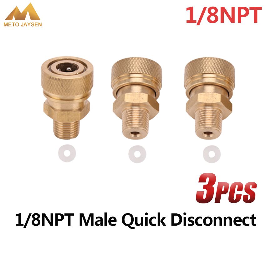 PCP Airforce Paintball 1/8NPT Male Quick Disconnect Copper 8mm Air Refilling Coupling Connector Socket 3pcs/set