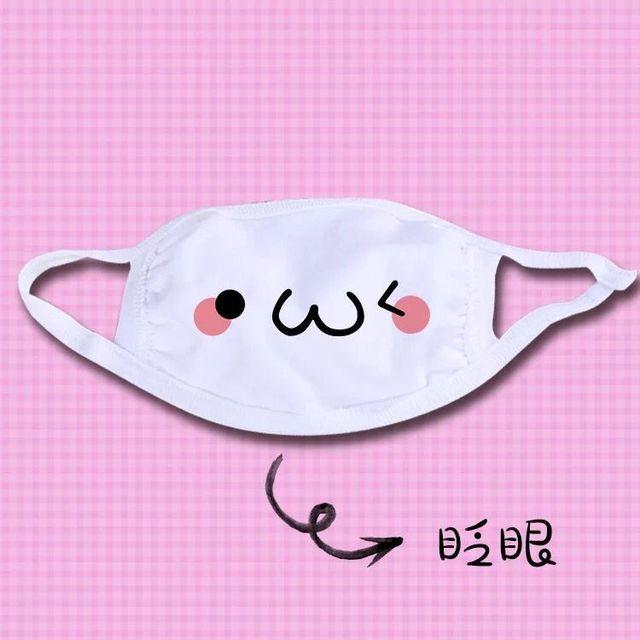 1pc Cute Unisex Funny Tooth Dust Mask Lips Fangs Cotton Mask Cartoon Kpop Flu Mask Emotiction Masque Hot 5