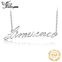 JewelryPalace Alphabet Words Limerence Goodluck Necklace With 18 Inches Chain Cubic Zirconia 925 New Fine Jewelry For Women