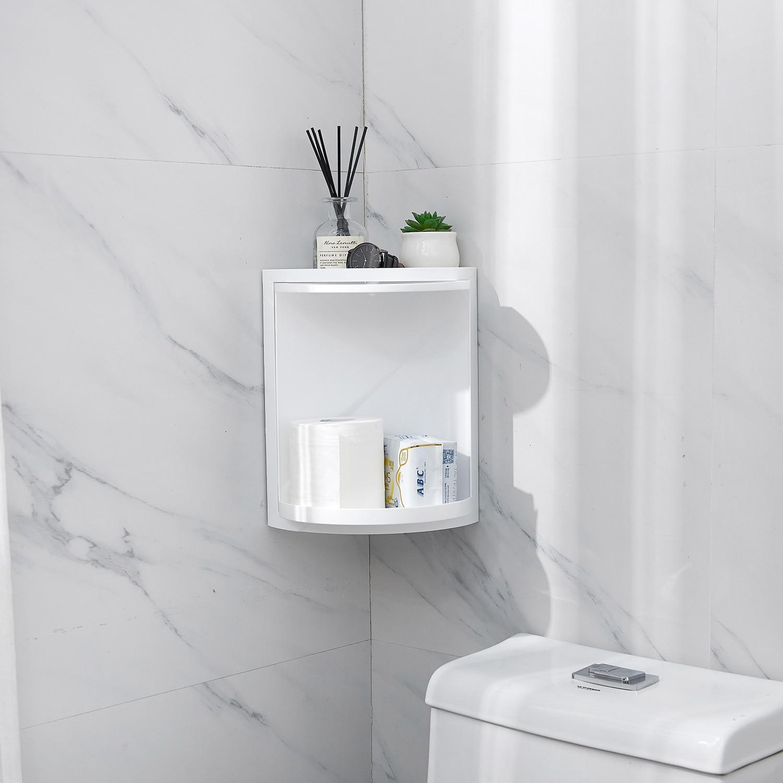 Sanqing цветок Ванная комната полки для хранения для ванной комнаты пробивка отверстий стеллаж для хранения туалета 360 градусов Штатив