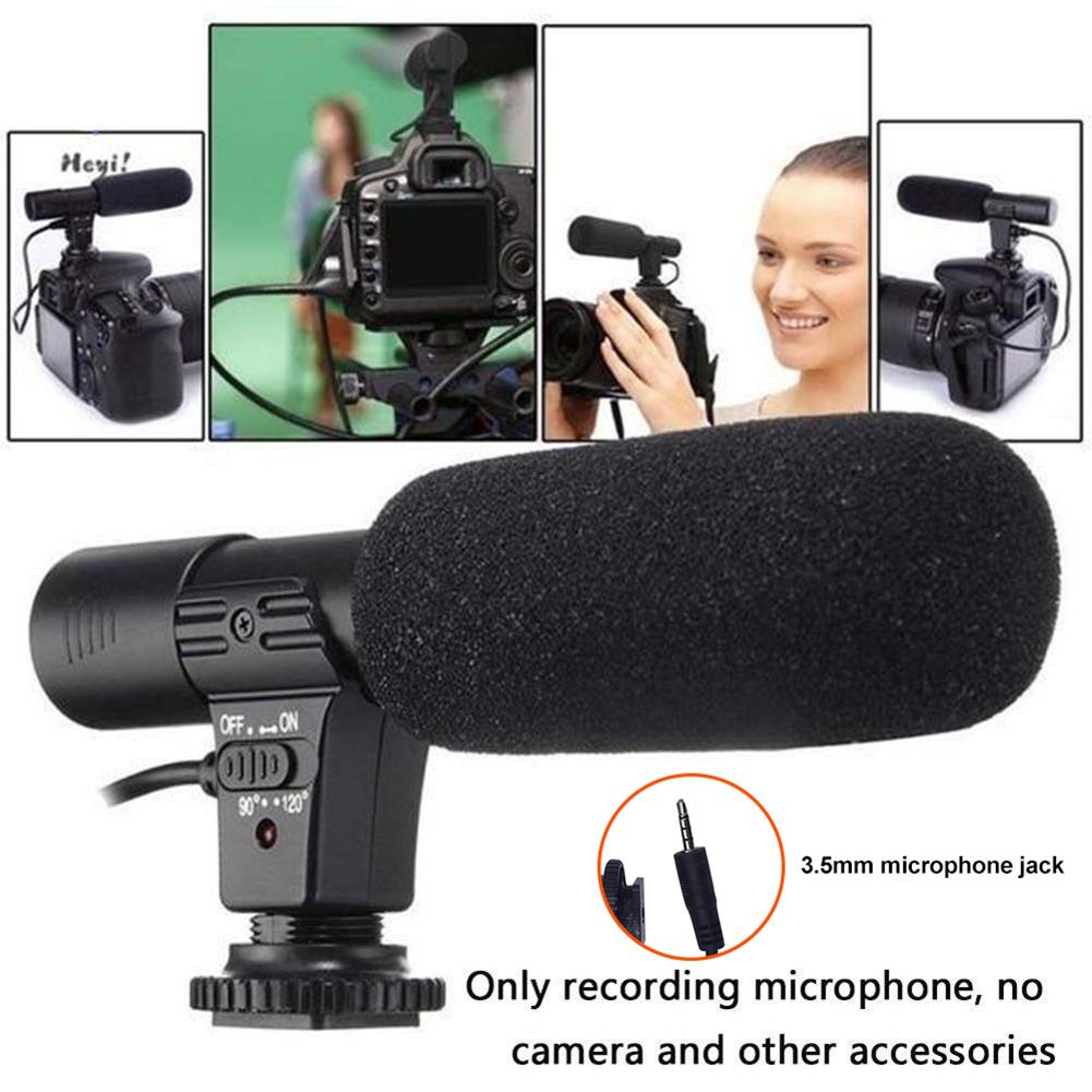 3.5mm Stereo Camera Microphone VLOG Photography Interview Digital Video Recording Microphone for Nikon Canon DSLR Camera image