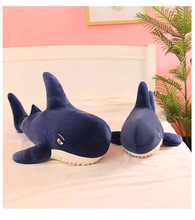 Big New Simulation Shark Plush Toy Soft Cartoon Animal Doll Sofa Bed Pillow Toys for Girls Kids Birthday Gift