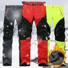 Outwear Pants Sports-Trousers Fleece-Lined Male Men Thicken Waterproof Outdoor Trekking