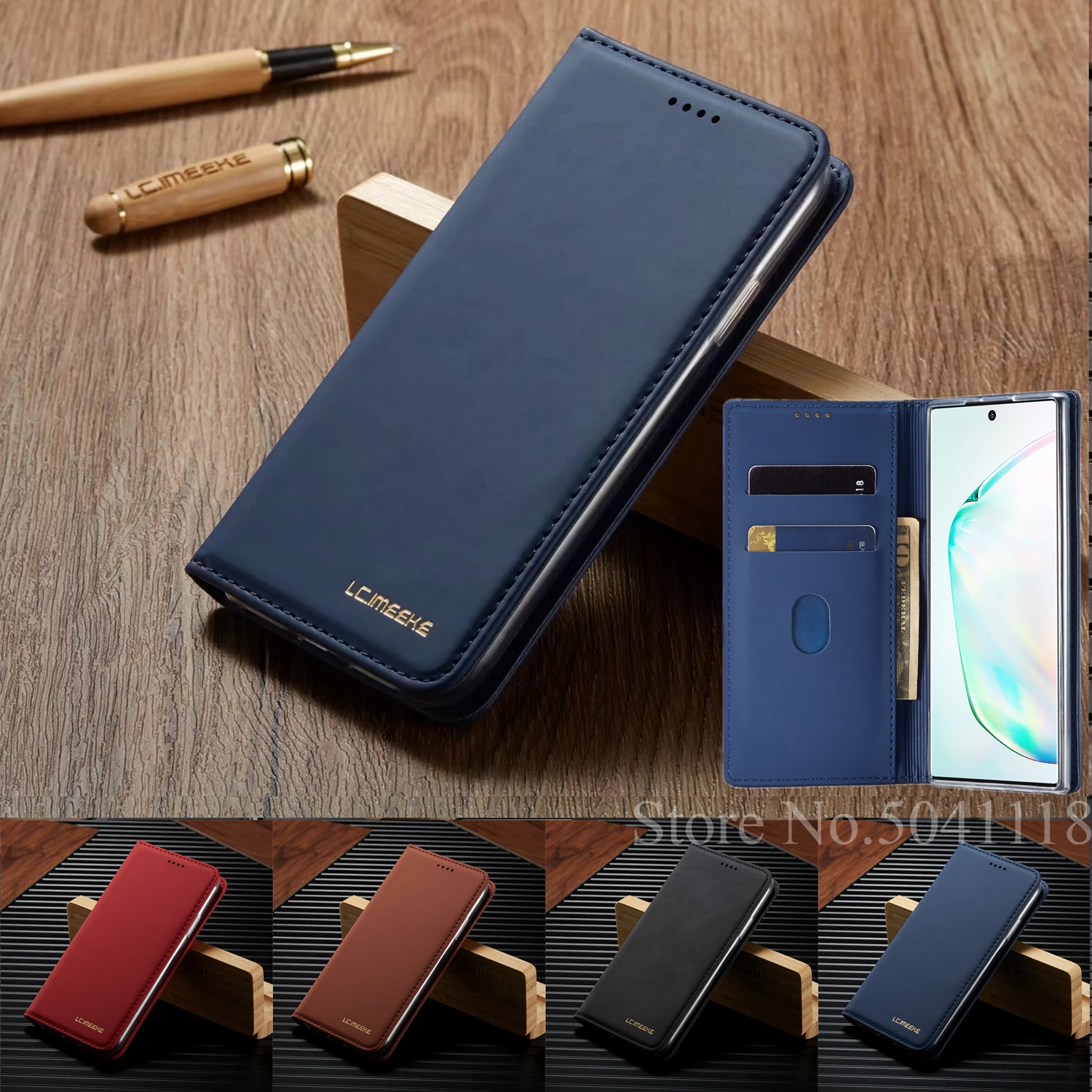 <font><b>Leather</b></font> <font><b>Flip</b></font> <font><b>Wallet</b></font> <font><b>Case</b></font> For <font><b>Samsung</b></font> Galaxy Note 10 9 S8 S9 S10 Plus E A10 A20 A30 A40 A50 A70 Cover Card <font><b>Stand</b></font> Phone Coque Etui image