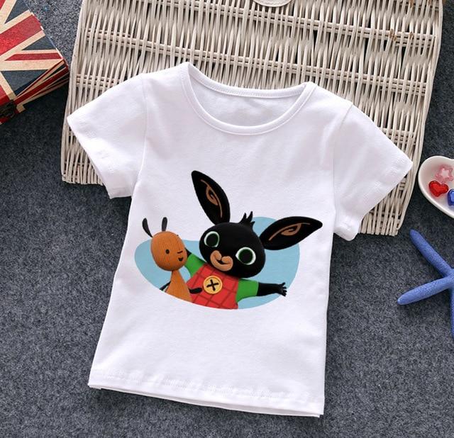 Bing lapins T-shirt pour adolescent vêtements mignon blanc vêtements T-shirt fille dessin animé Anime rose t-shirts enfants 2021 garçons T-shirt