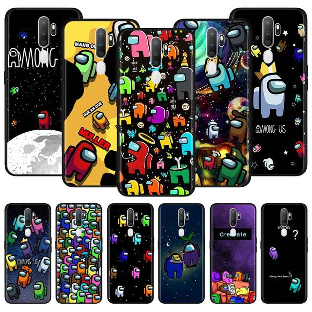 Among Us Phone Case For Oppo A5 A9 A52 A72 A92 F11 Find X2 Ace A53 Reno3 4 Pro A32 A73 A93 A33 2020 Soft Back Cover Coque Funda