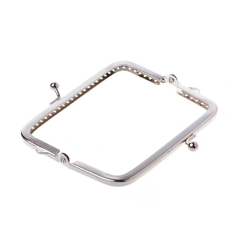 1PC carré métal cadre baiser fermoir pour poignée sac sac à main 10cm bricolage accessoires M5TE
