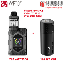 Free Gifts!! Vape Mod Box vaporizer Vaptio Wall Crawler KIT 1.3inch TFT Color Screen power Fit 18650 Battery vapor bypass Mod