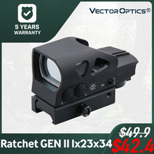 Vector Optics Ratchet GEN II 1x23x34 Multi Reticle Green Red Dot Sight with QD 20mm Weaver Mount For Dear Shooting Hunting