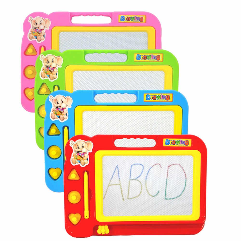 Tablica do pisania edukacyjna zabawka dla dzieci nowe kasowalne malowanie magnetyczne pisanie rysunek tablica do malowania Graffiti + zestaw długopisów zabawki dla dzieci dla dzieci
