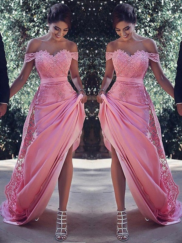 Elegant New Mermaid Evening Dress Prom Dresses Long Vestidos De Fiesta Lace Appliques Lace Formal Evening Prom Party Dress