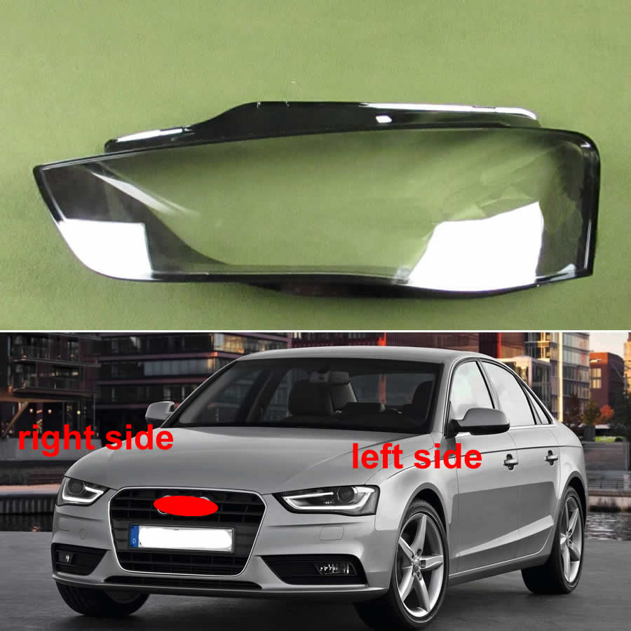 Headlights Shell Headlamp Cover Headlight Glass Lampshade Shell Transparent Lampshade For Audi A4 A4L B9 2012 2013 2014 2015