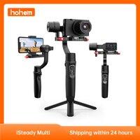 Hohem iSteady stabilizzatore palmare a 3 assi All-in-one multi-giunto cardanico per fotocamera compatta Sony serie RX100/per GoPro 9/ Smartphone