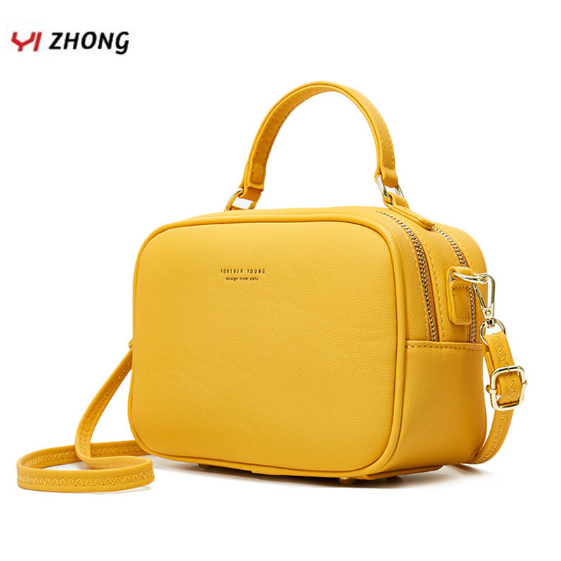 YIZHONG Simple Luxury Handbags And Purses Women Bags Designer Fashion Leather Zipper Shoulder Bags Crossbody Tote Bags For Women