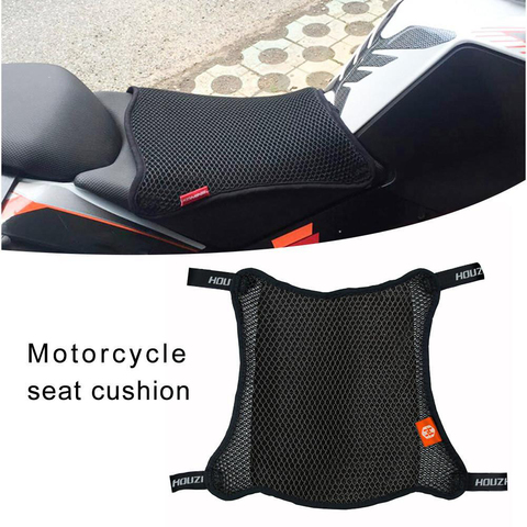 1pc capa de assento da motocicleta respiravel malha 3d net coxim respiravel anti skid ciclomotor