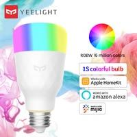Yeelight-bombilla inteligente YLDP1SYL RGB E27, 10W, 800lm, Control por voz inalámbrico, amplio Color de opciones, versión colorida
