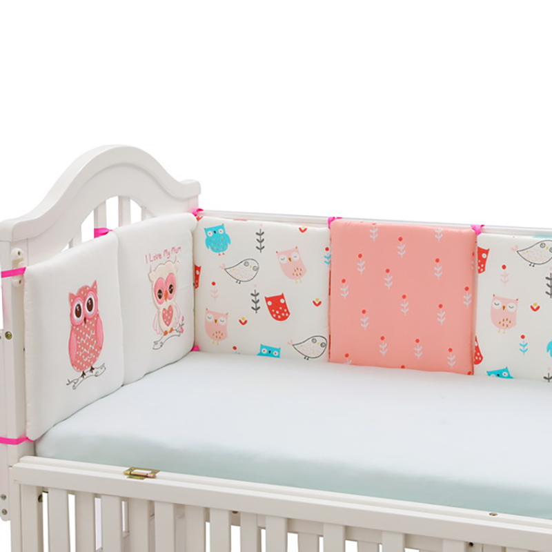 Baby Sleeping Bed Crib Bumpers Cushion Soft Safety Protection Pad Cushion Kids Cot Bed Backrest Cotton Cartoon 6pcs/set YME007